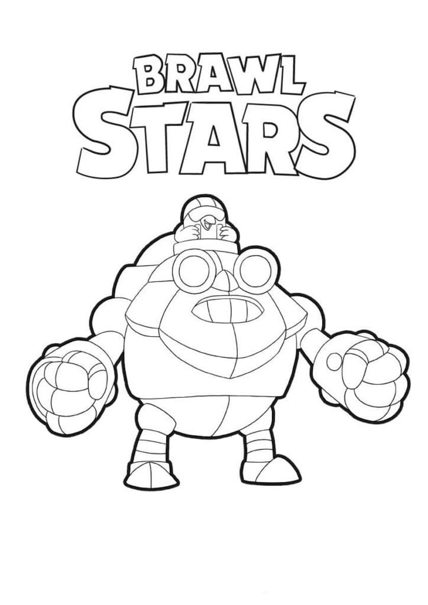 Раскраски Бравл Старс для детей (можно распечатать бесплатно)