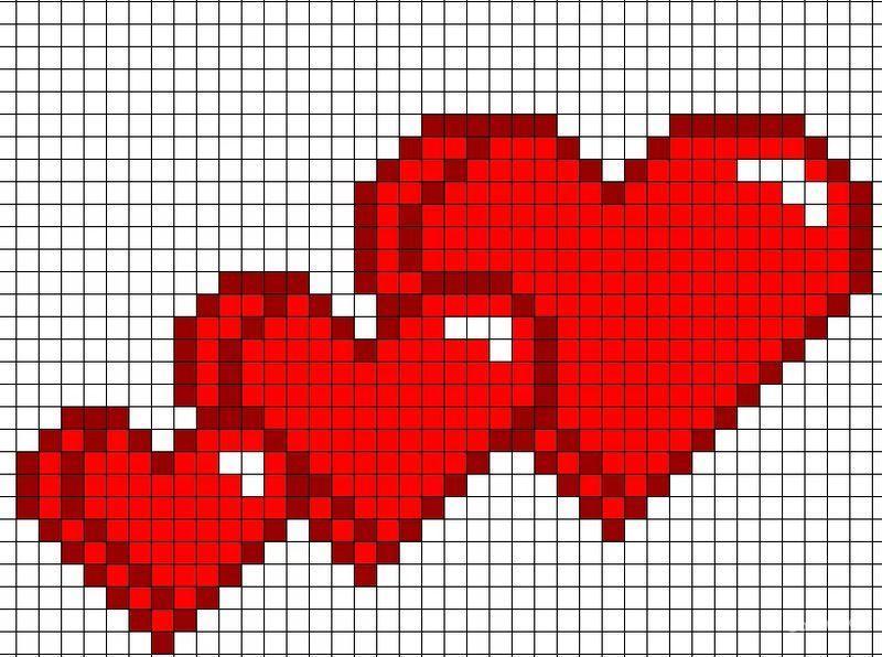 рисунки по клеточкам в тетради сердечко доказательством