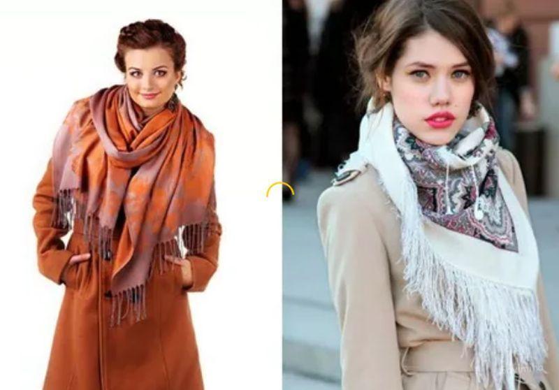как красиво завязать шарф на пальто фото кругляши глазурью обсыпкой