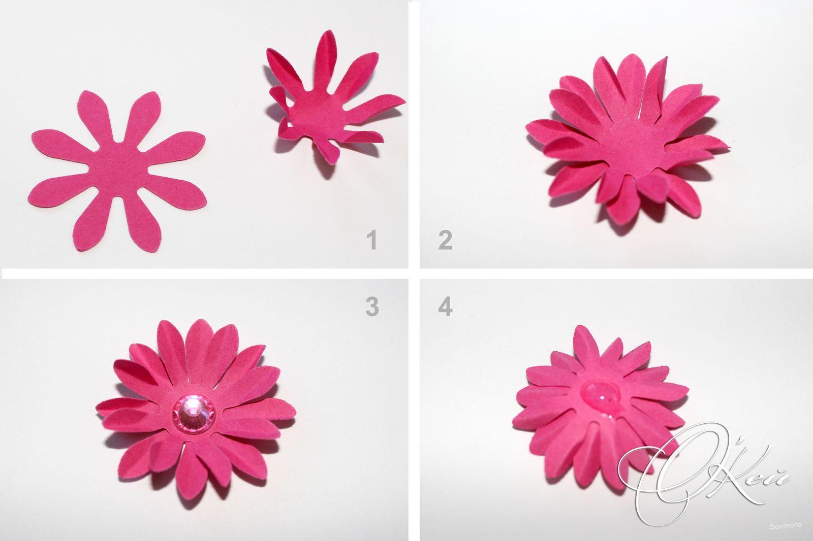 объемный цветок из бумаги на открытку пошаговая инструкция печати теста дюз