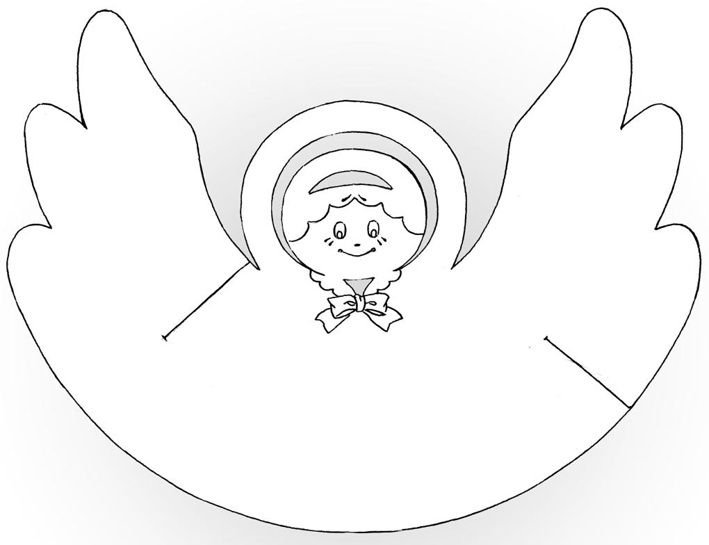 ангелочек картинка для поделки тоже гугле